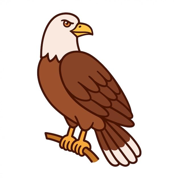 premium vector | cartoon bald eagle  freepik
