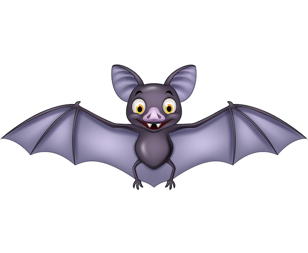 Cartoon bat isolated on white background Premium Vector