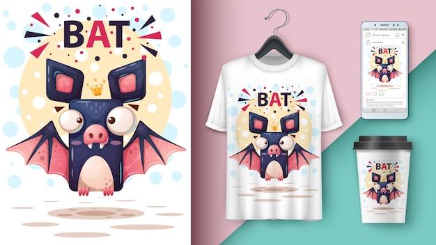 Cartoon bat Premium Vector