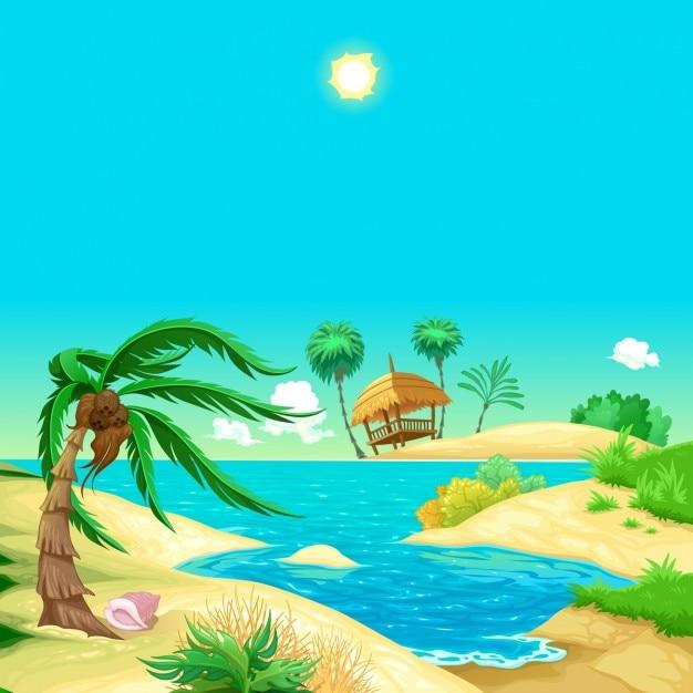 Free Vector Cartoon Beach Find & download free graphic resources for cartoon beach. free vector cartoon beach