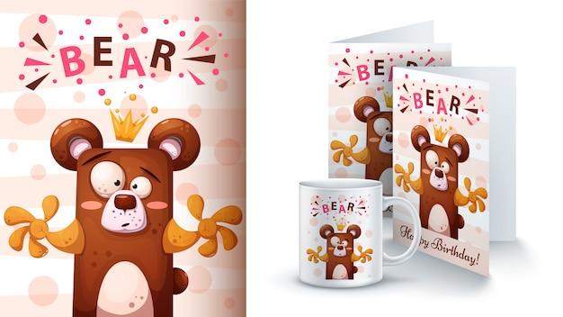 Cartoon bear Premium Vector