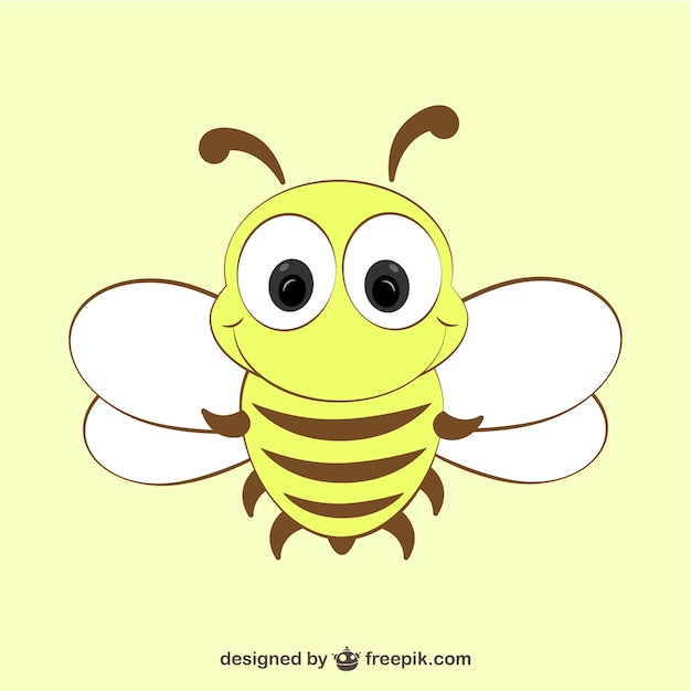 Cartoon bee icon | Free Vector