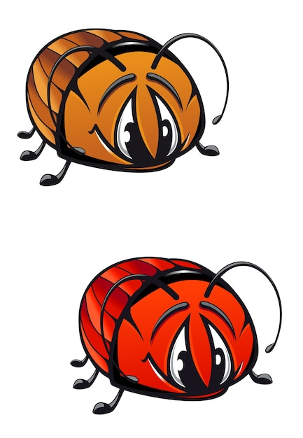 Cartoon beetle Premium Vector