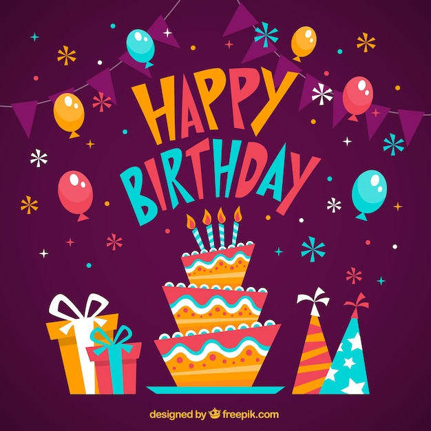 Cartoon birthday card Vector – Cartoon Birthday Greetings