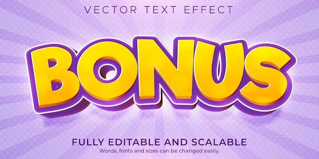 Cartoon bonus text template Premium Vector