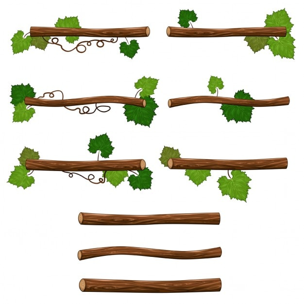 Cartoon branches Free Vector