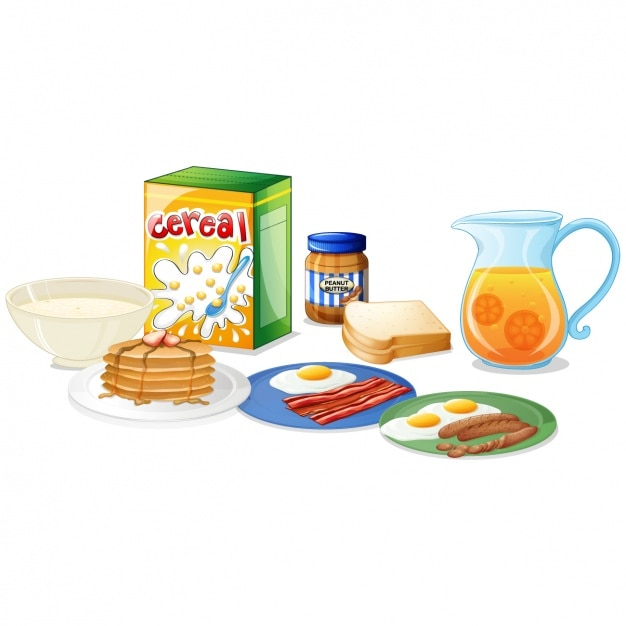 Cartoon breakfast Vector | Premium Download
