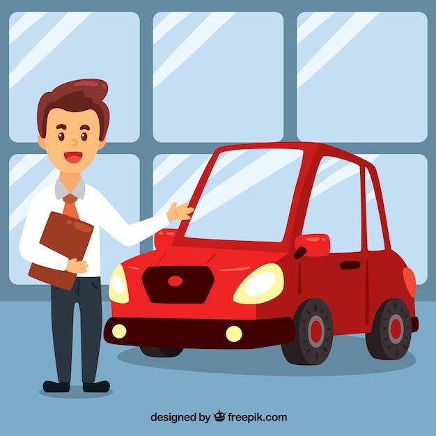 Cartoon car salesman design | Stock Images Page | Everypixel