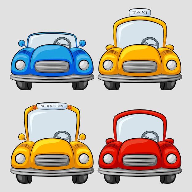 Cartoon Cars Collection Vector Premium Download