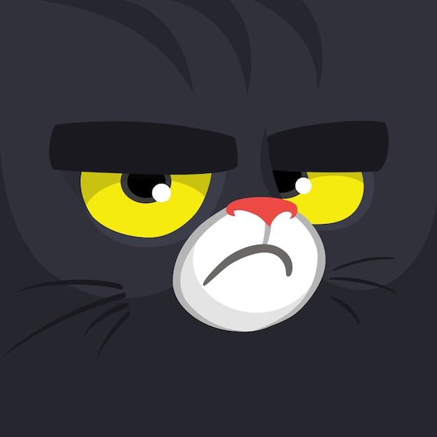 Cartoon cat face Premium Vector