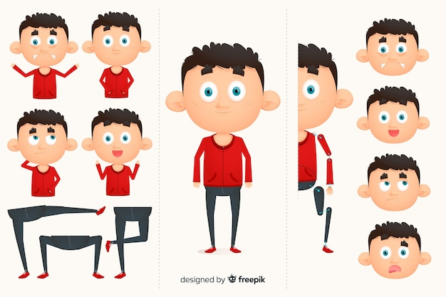 Cartoon character for motion design Free Vector