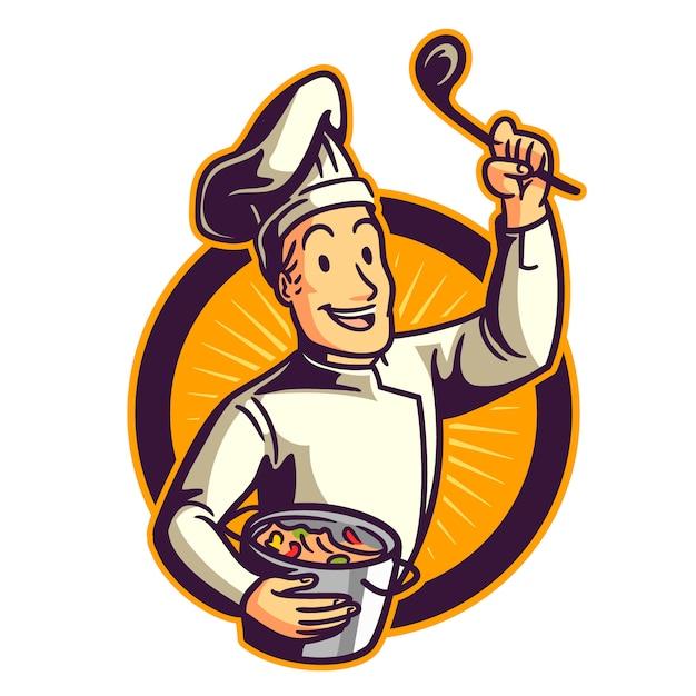 Мультфильм шеф-повар Premium векторы