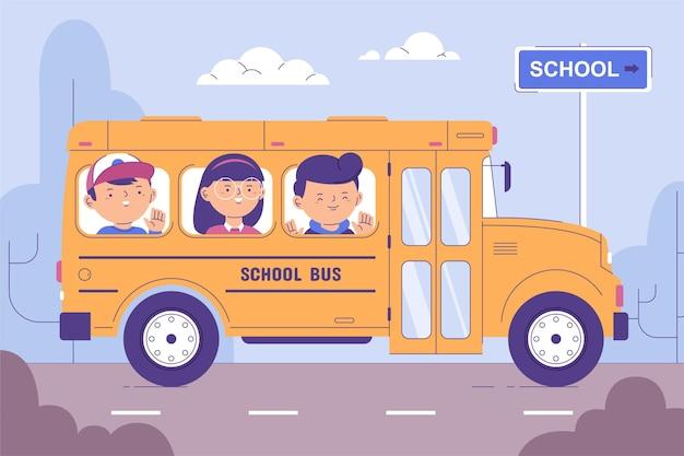 I bambini dei cartoni animati tornano a scuola Vettore gratuito