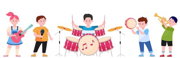 Cartoon children band Free Vector