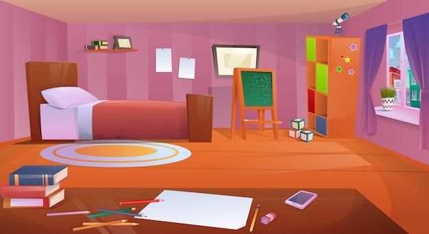 漫画の子供部屋 Premiumベクター