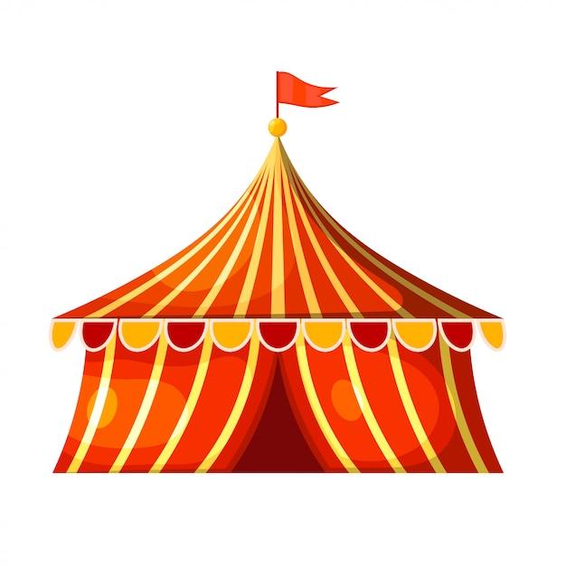 Cartoon circus marquee tent Premium Vector
