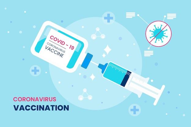 漫画コロナウイルスワクチンの背景 無料ベクター