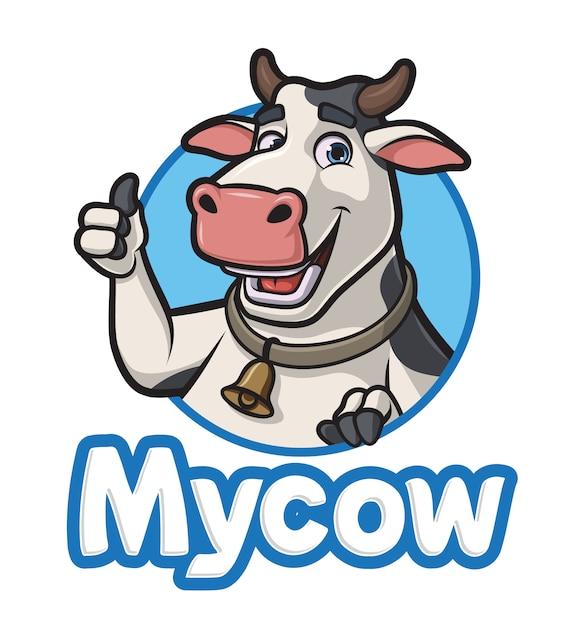 Cartoon cow Premium Vector