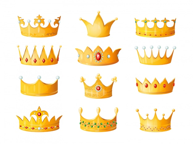 Premium Vector Cartoon Crown Golden Emperor Prince Queen Royal Crowns Diamond Coronation Gold Antique Tiara Crowning Imperial Corona Jewels Isolated Illustration Set 1000 x 780 jpeg 82 кб. https www freepik com profile preagreement getstarted 9490956