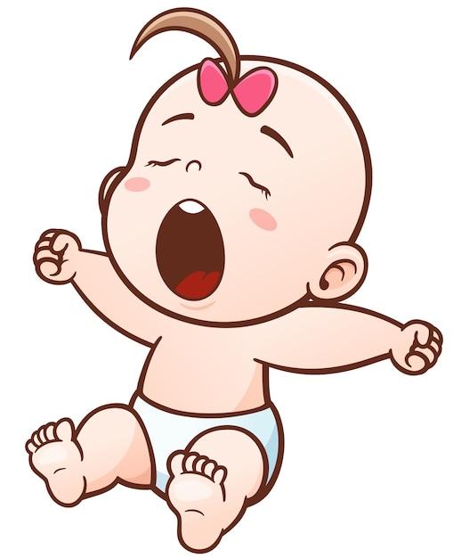 Cartoon cute baby sleepy Premium Vector