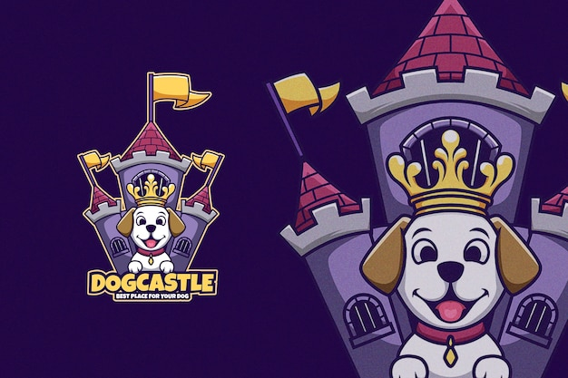 Premium Vector Cartoon Dog In Front Of King Castle Wearing Crown Polish your personal project or design with these cartoon crown transparent png images, make it even more personalized and more attractive. freepik