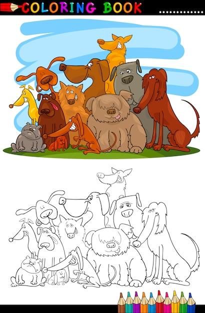 Мультфильмы для раскраски или страницы Premium векторы