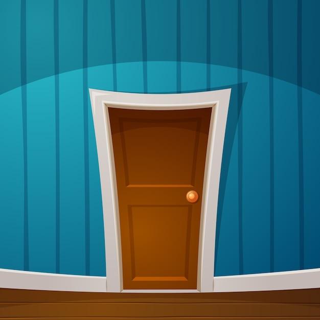 Cartoon door in the room. Premium Vector & Cartoon door in the room. Vector | Premium Download