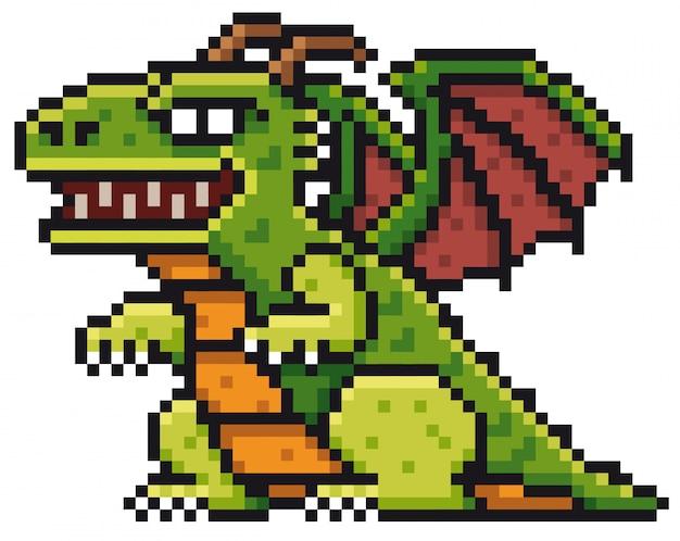 Cartoon dragon Premium Vector