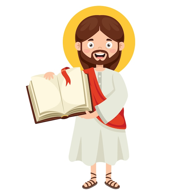 Premium Vector Cartoon Drawing Of Jesus Christ