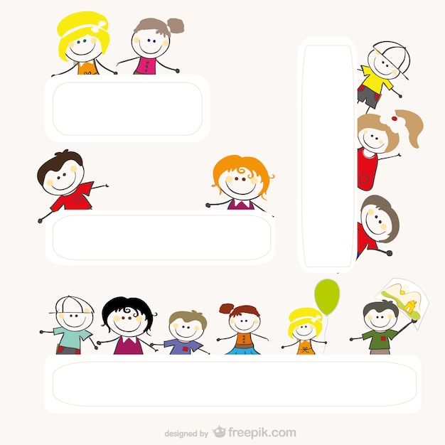 cartoon drawings by children vector free vector - Cartoon Drawings Of Children