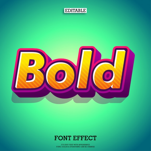 Cartoon friendly bold typeface font Premium Vector