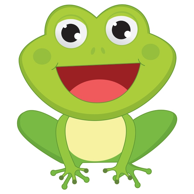 cartoon frog vector premium download