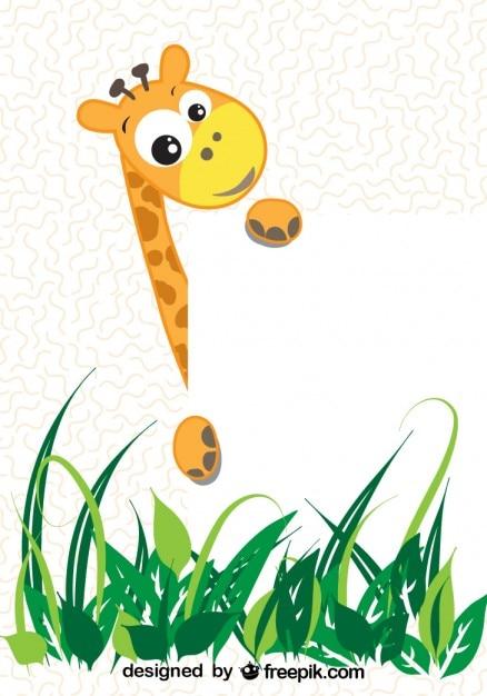 Вектор мультфильм жираф Бесплатные векторы