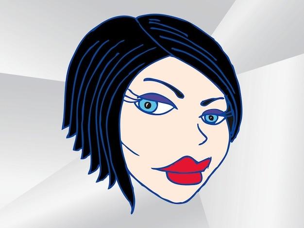 Cartoon Girl face reaction vector