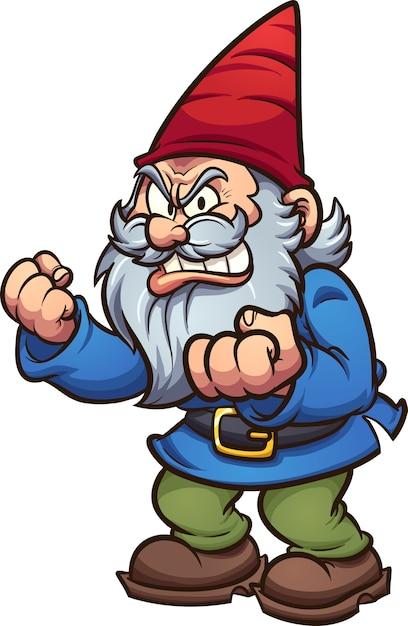Cartoon gnome Premium Vector