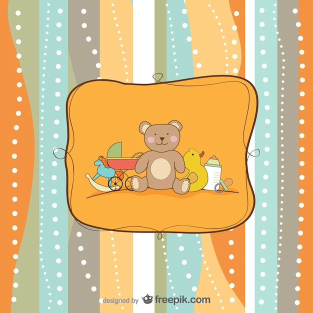 Cartoon hand painted background    vector Free Vector