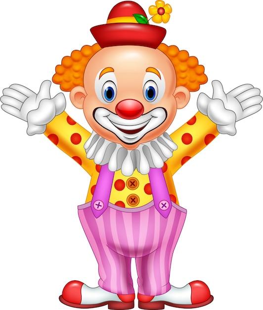 Cartoon happy clown Premium Vector