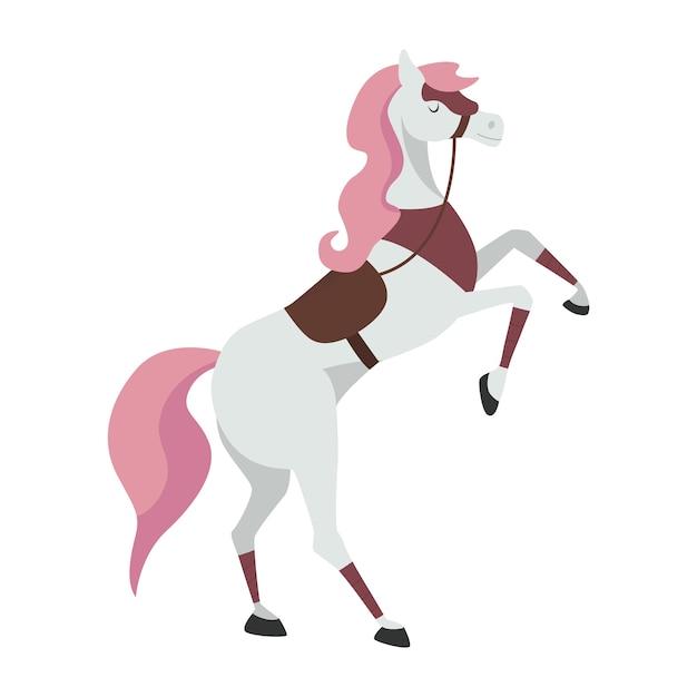 Мультфильм лошадь для иллюстрации рыцаря Premium векторы