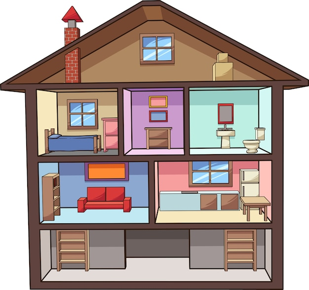 Cartoon house vector premium download for Cost to demo interior of house