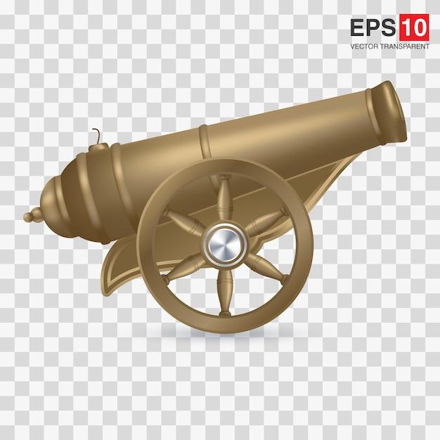 Cartoon illustration of cannon Premium Vector