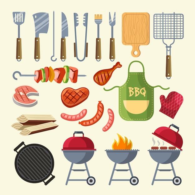 Cartoon illustration of meat Premium Vector