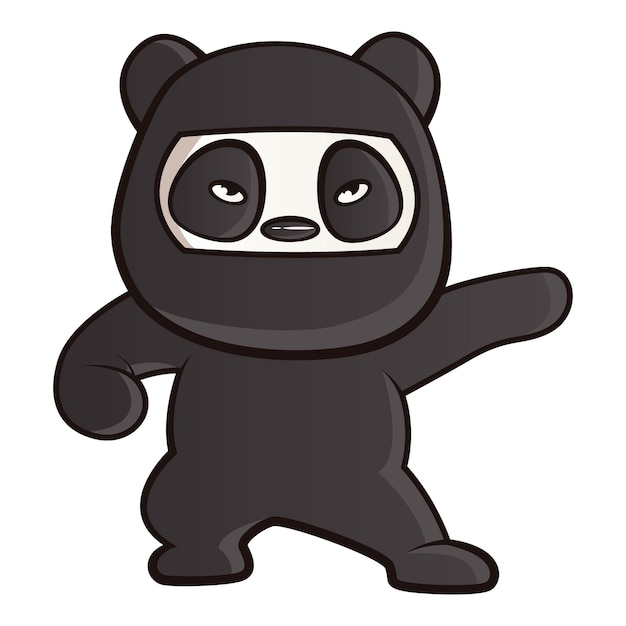 Cartoon illustration of panda. Premium Vector