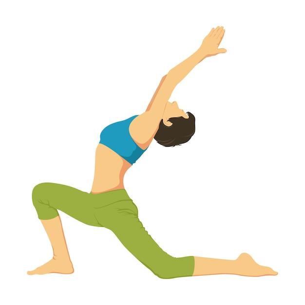 Cartoon illustration of yoga pose Premium Vector