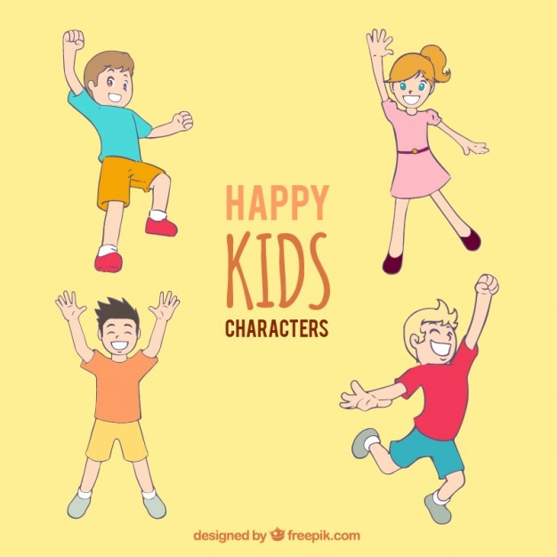 Cartoon kids characters