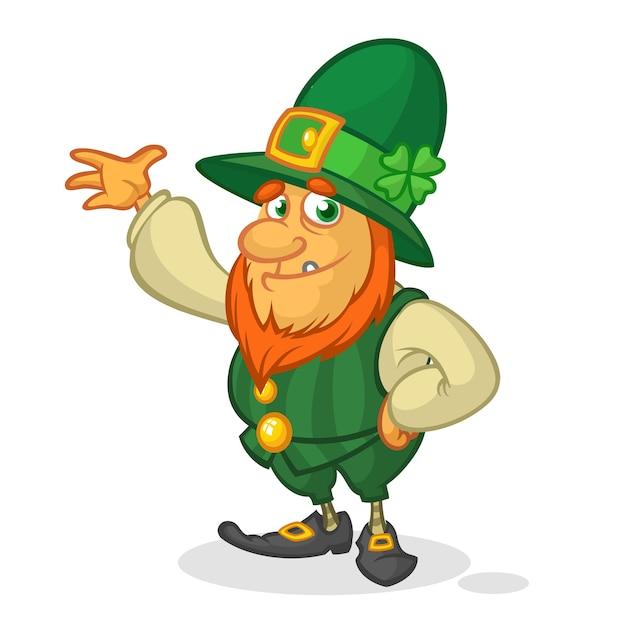 cartoon leprechaun st patrick s day vector premium download
