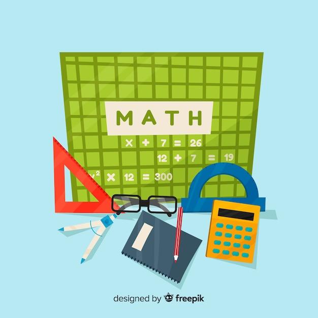 Cartoon math background Free Vector