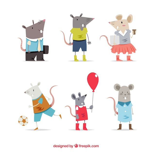 Cartoon mice collection