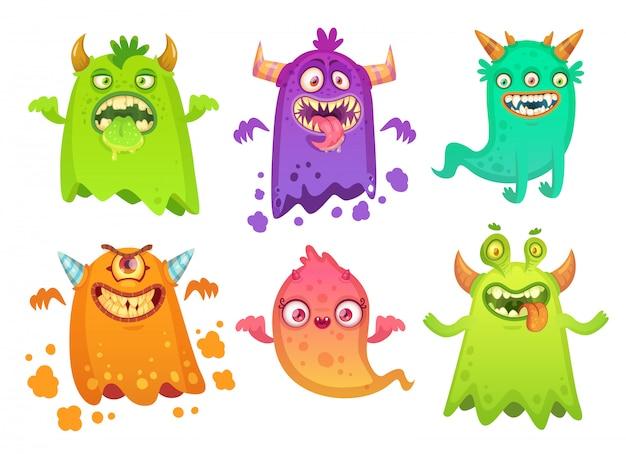 Cartoon monster ghost Premium Vector