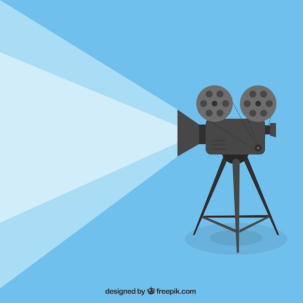 Cartoon movie projector Free Vector