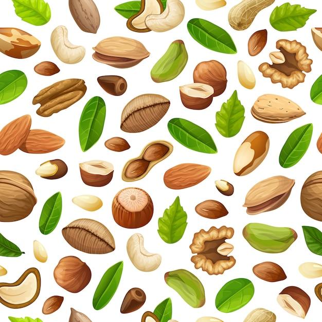 漫画自然食品のシームレスパターン 無料ベクター